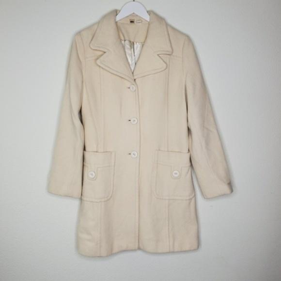 BP Jackets & Blazers - Nordstrom BP Cream Wool Peacoat